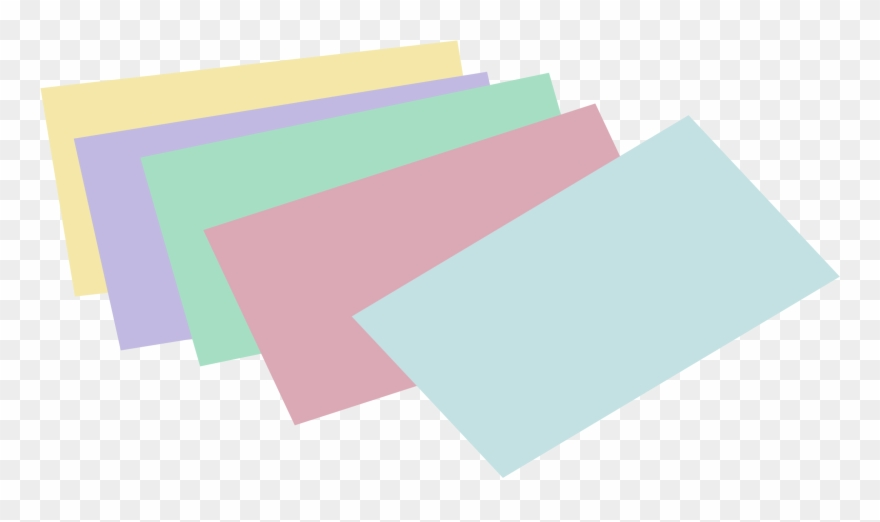 Stack Of Unlined Colored Index Cards.