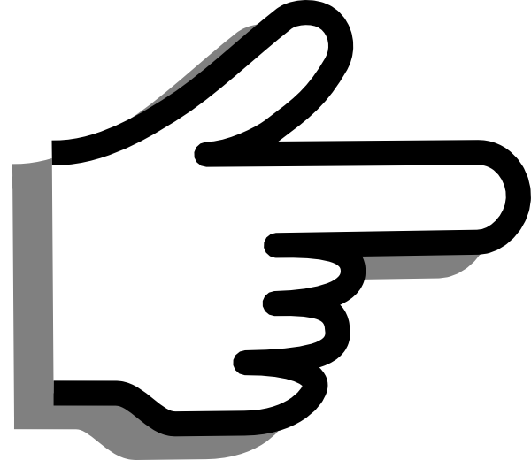 Left Pointer Finger Clipart.