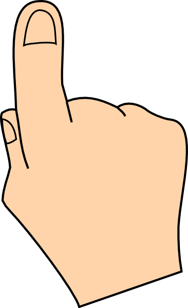 Click Here Finger Clipart.