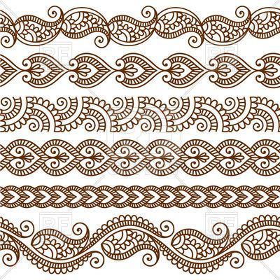 Borders and frames in mehndi style.