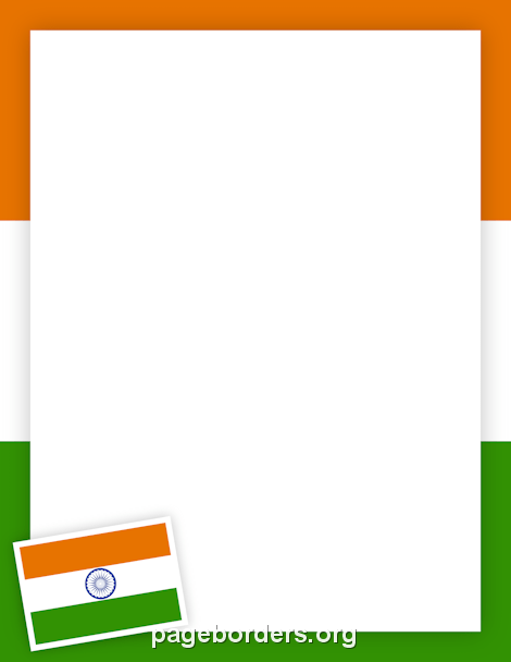 Indian Flag Border: Clip Art, Page Border, and Vector Graphics.