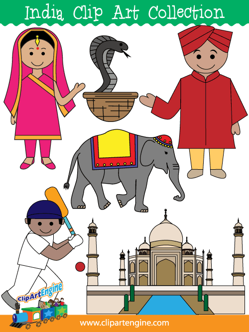 India Clip Art Collection for Personal and Commercial Use.