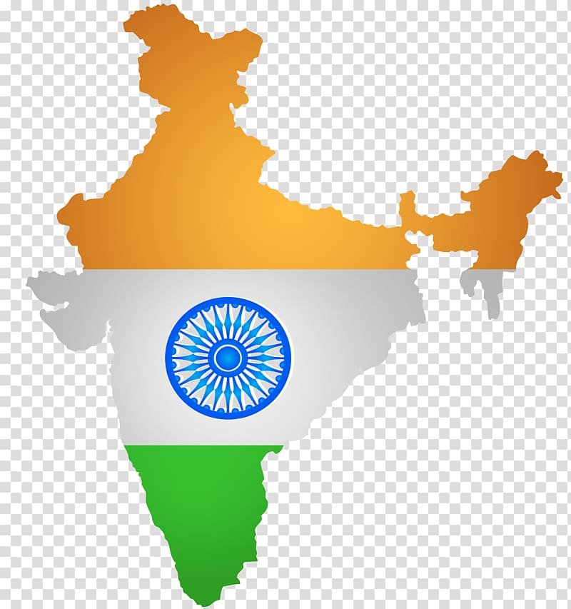 India Blank map, India transparent background PNG clipart.
