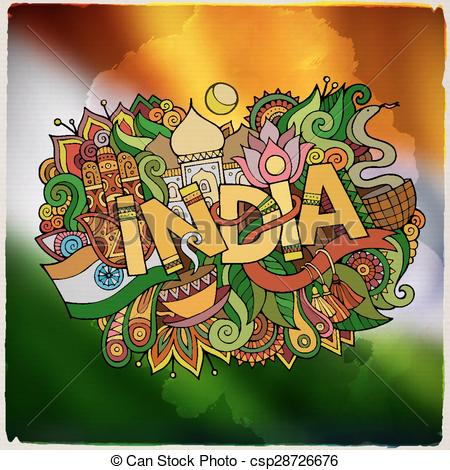 India Country Clip Art.