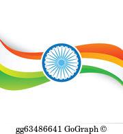 Indian Flag Clip Art.