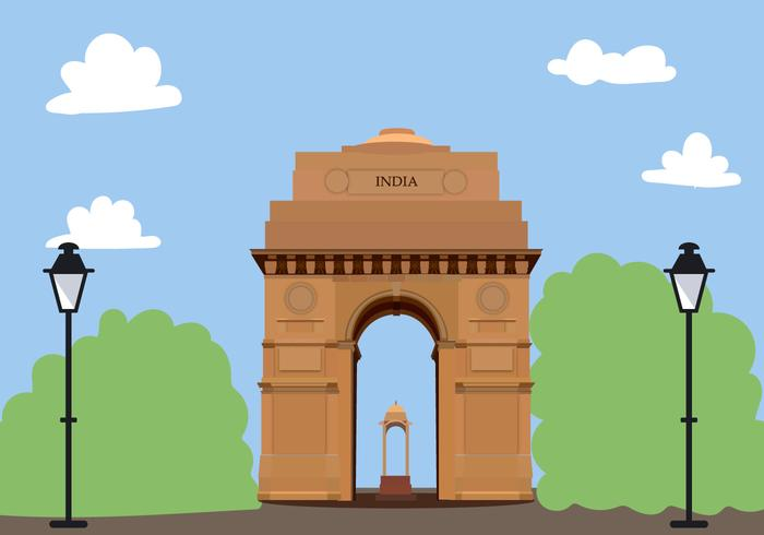 India Gate Free Vector.