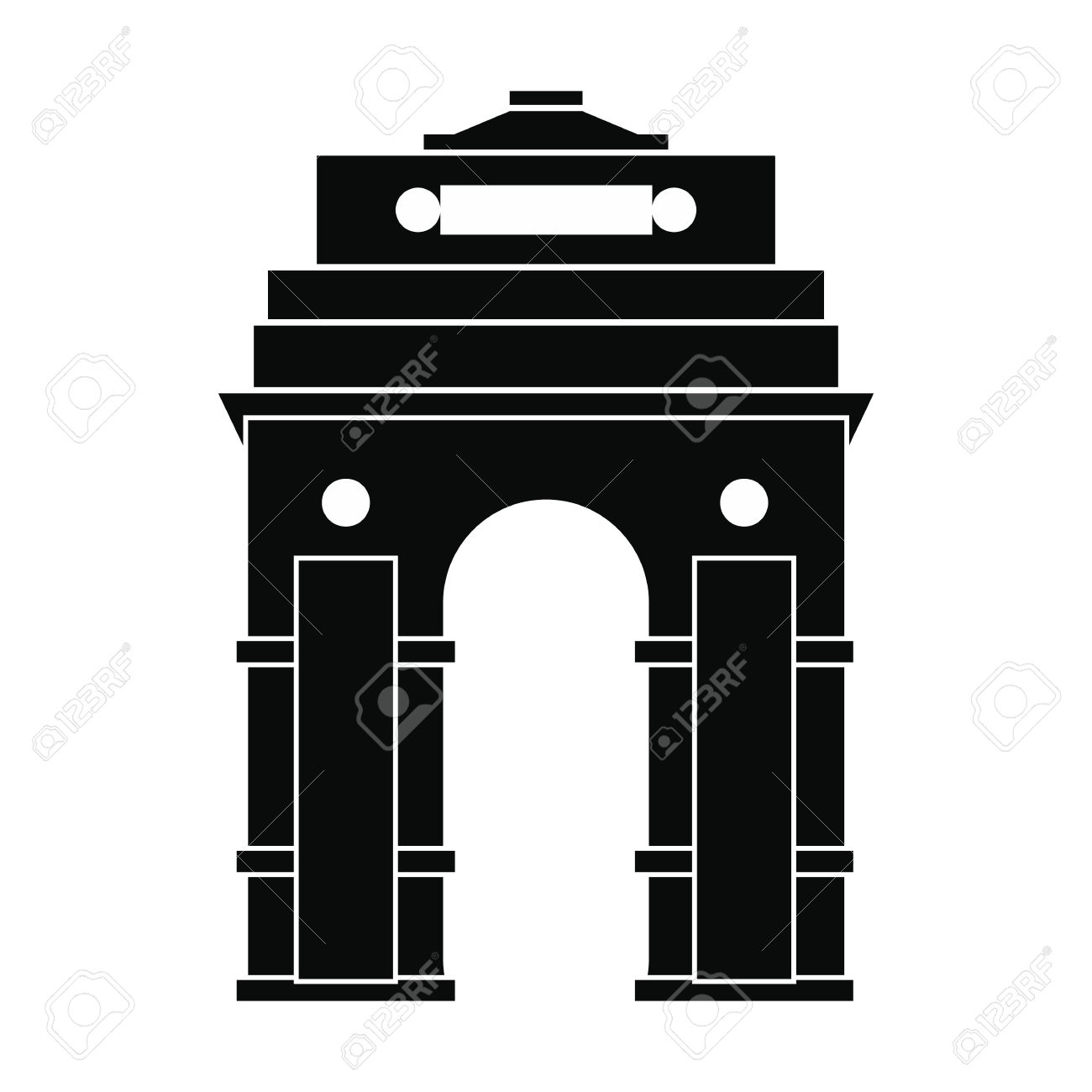 India Gate, New Delhi, India icon, simple style » Clipart.
