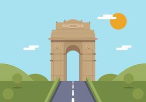India Gate Free Vector Art.