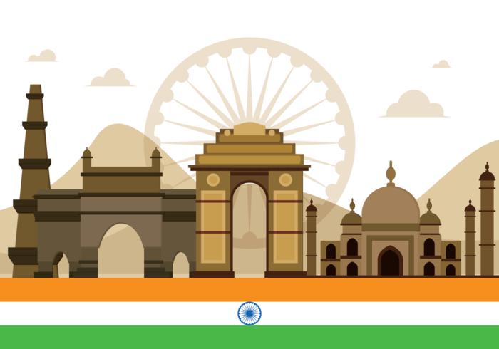 India Gate Vector Illustration.