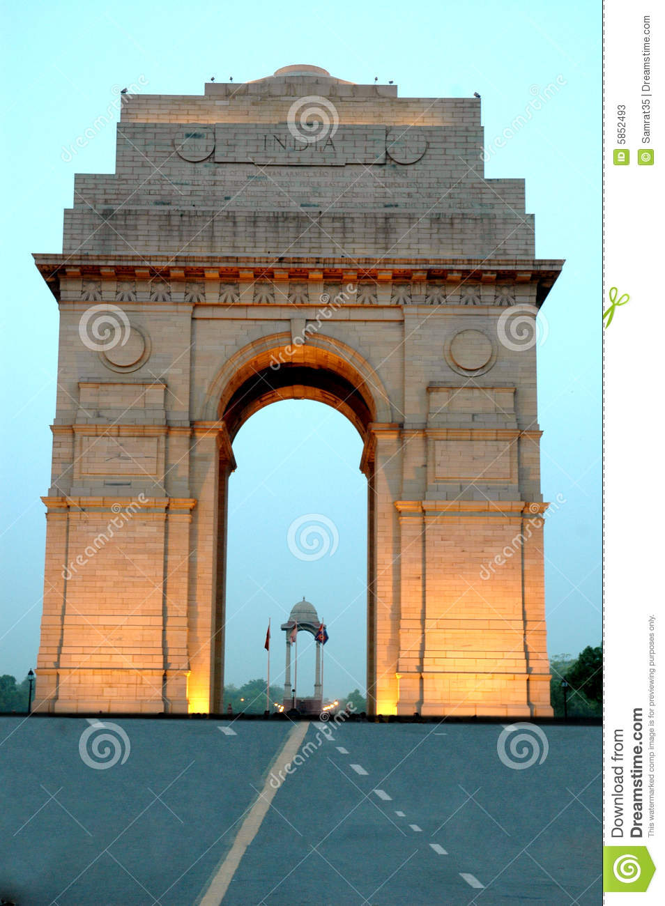 India Gate. Stock Photos.