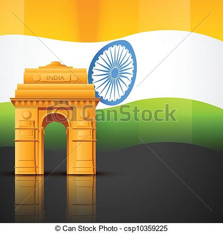 India gate Clip Art and Stock Illustrations. 503 India gate EPS.