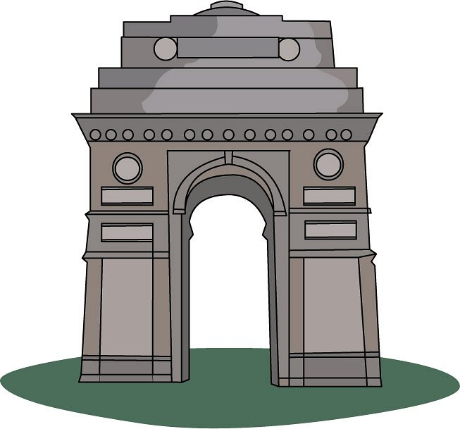 India gate clipart.