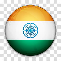 World Flag Icons, flag of India transparent background PNG.