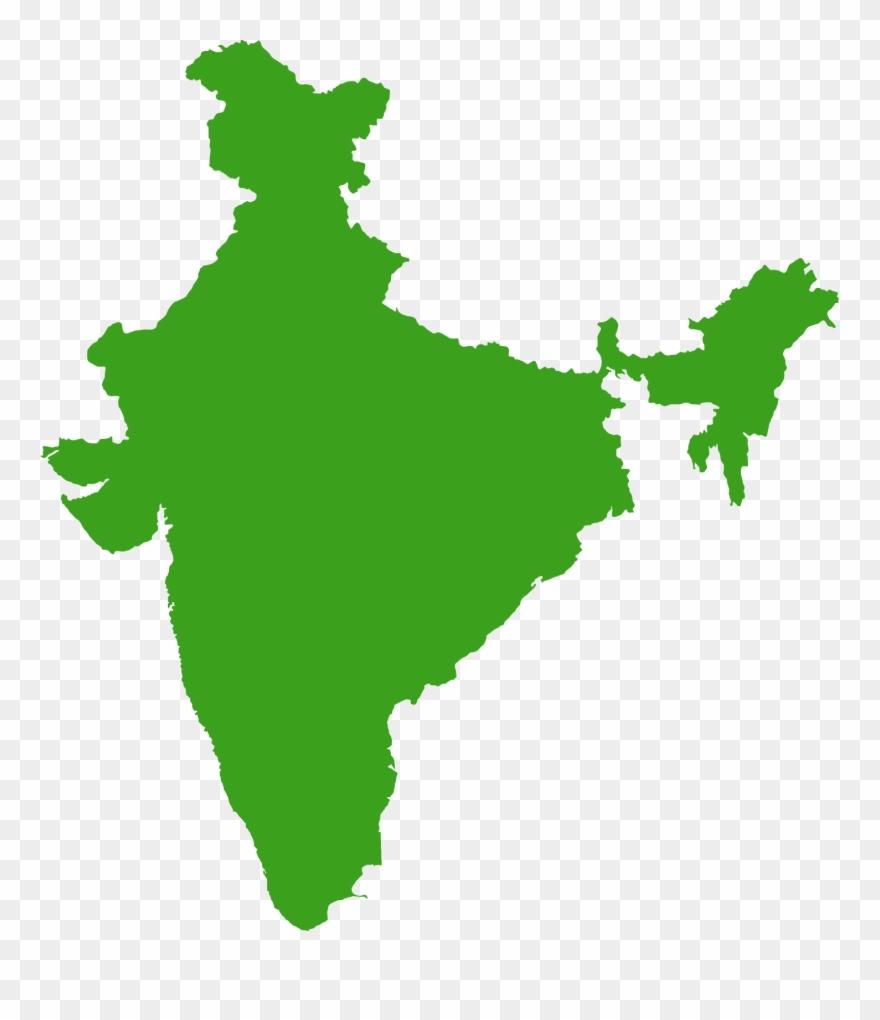 India Transparent Map.