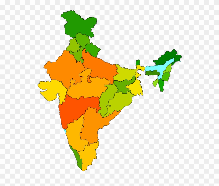 India Map Clipart Png.