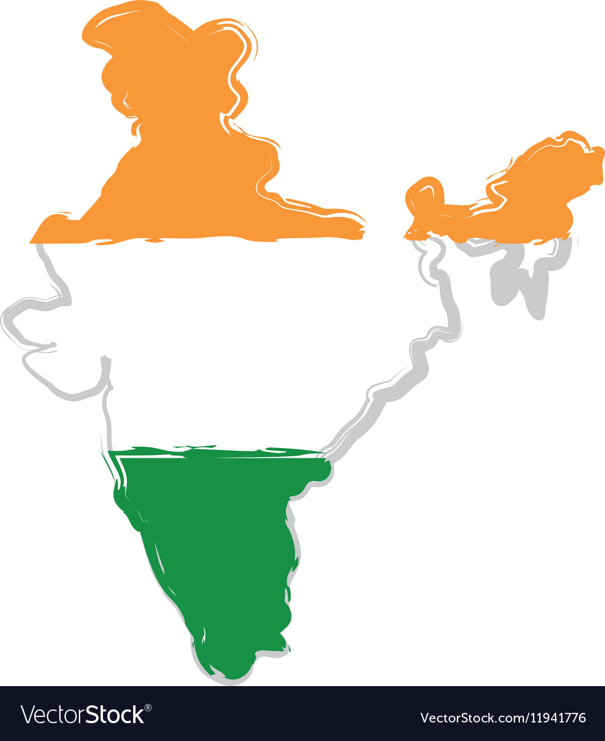 India map silhouette.