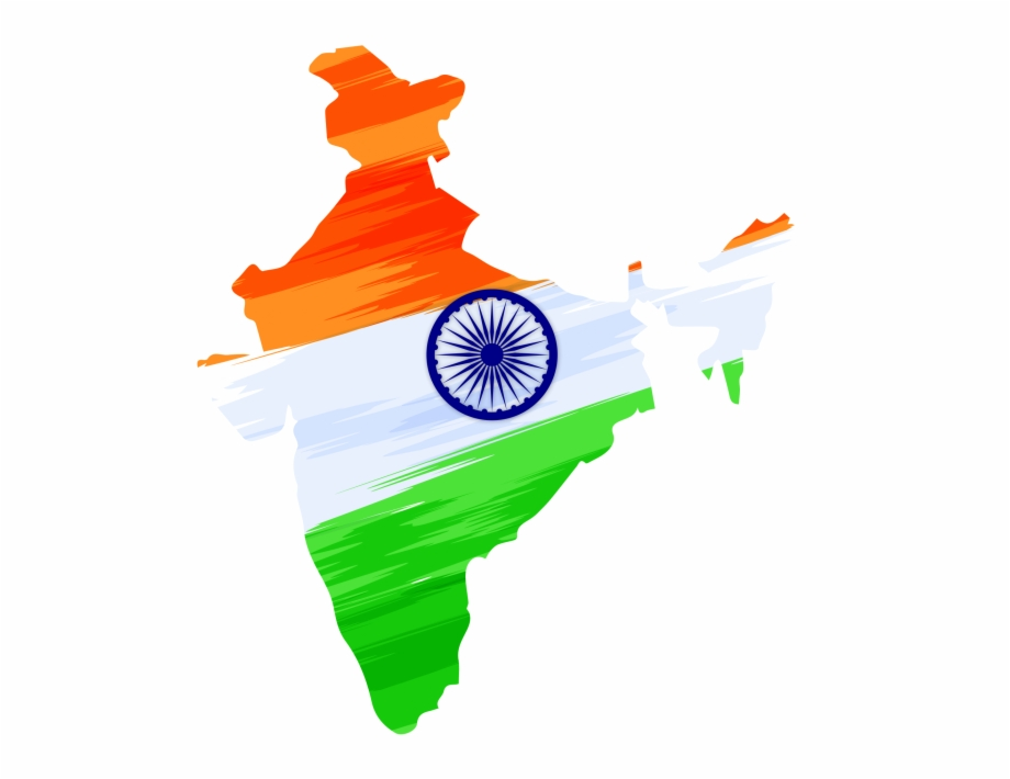 Indian Independence Day Design With Map Transparent.