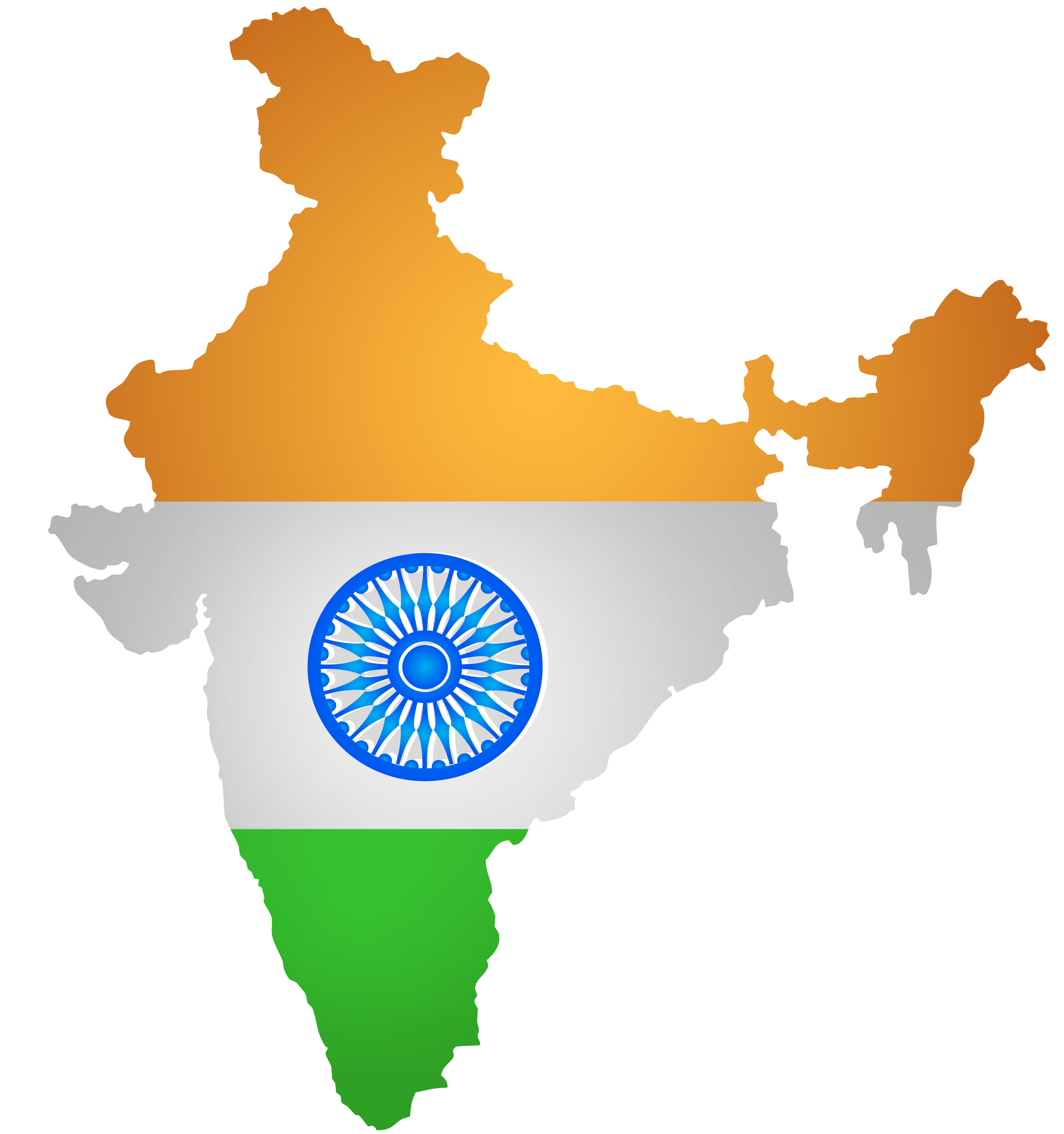 India Map Flag PNG Clip Art PNG Image.