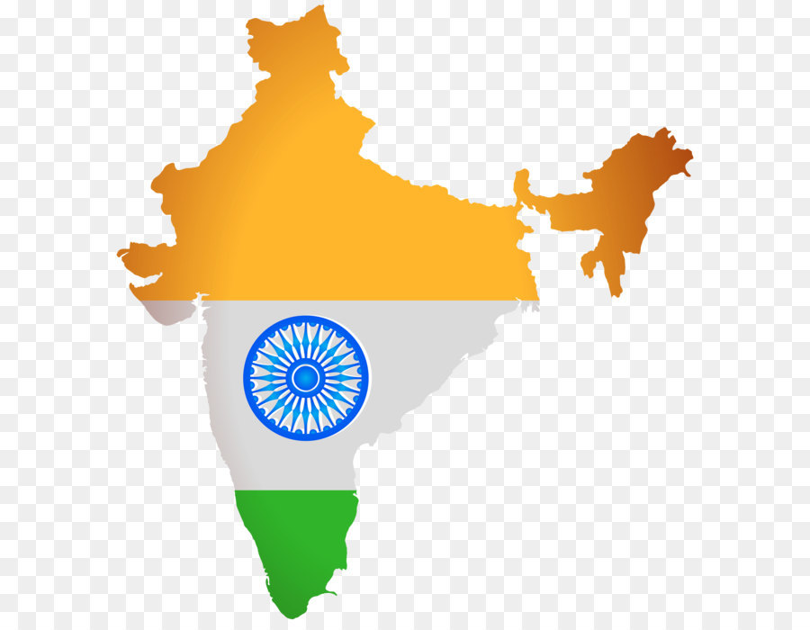 India Flag Map png download.