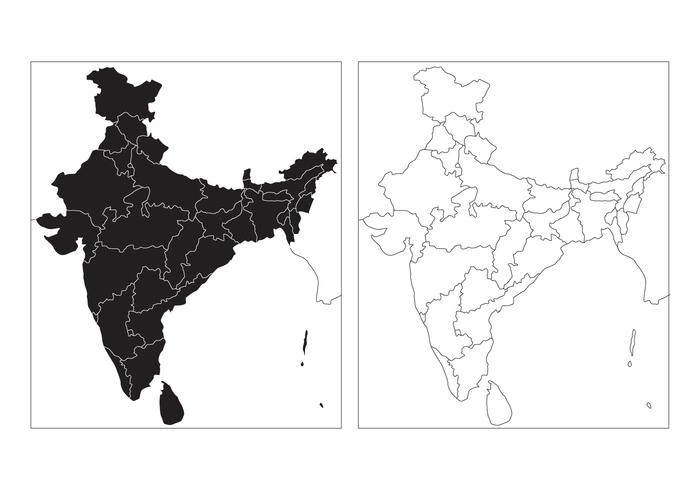 State Map of India Vector.