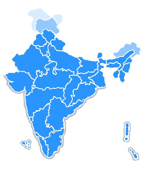 Download Free png File:India map bluetones2.PNG.