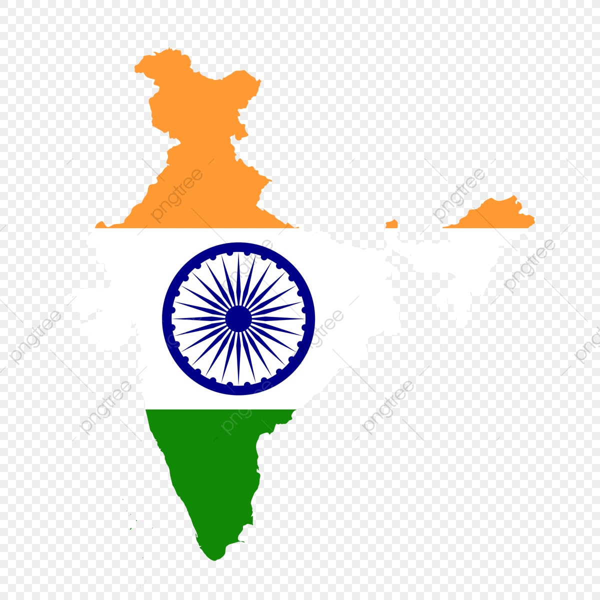 Indian Flag In India Map, Indian Republic Day, Indian, Republic PNG.