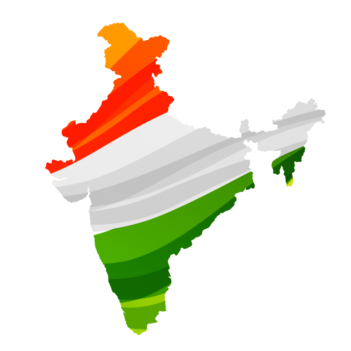 Happy Republic Day, India Map Image PNG.
