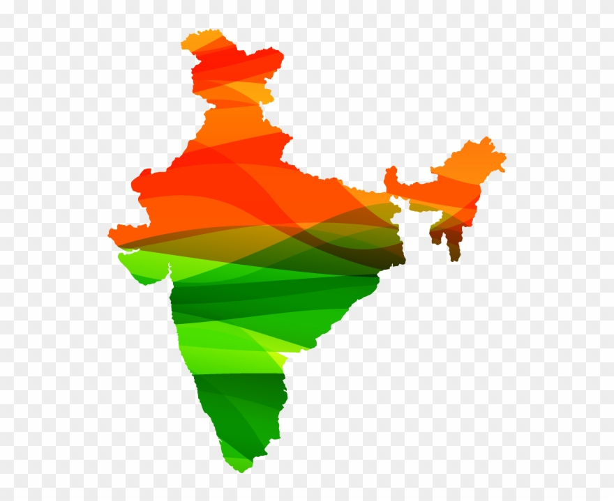 India Colour Map.