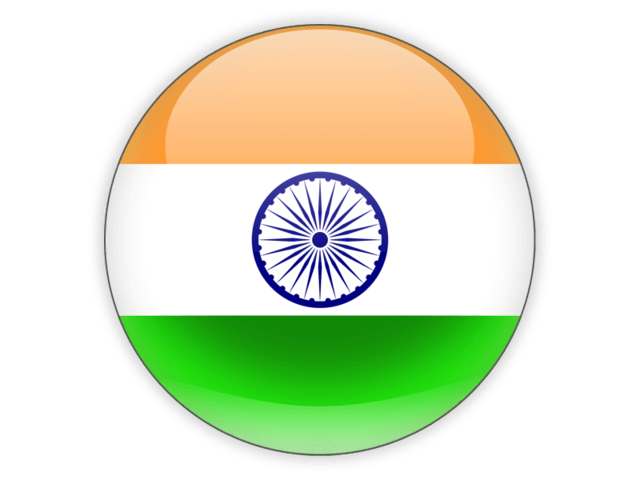 Icon India Flag transparent PNG.
