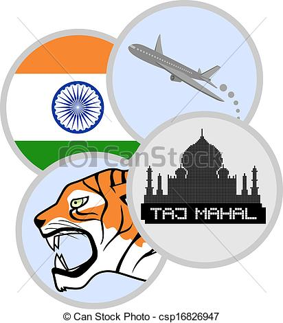 EPS Vector of Tourism India.