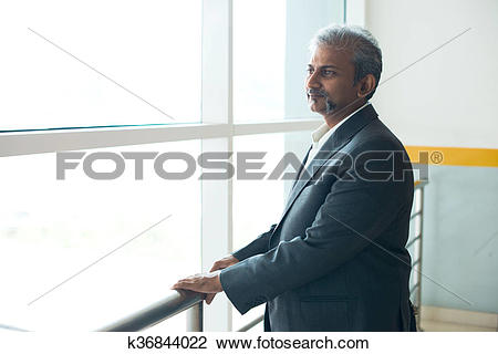 Stock Photo of indian businessman outdoor at airport k36844022.