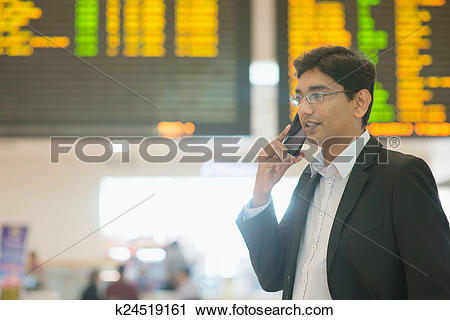 Stock Photography of Indian Business man at airport k24519161.
