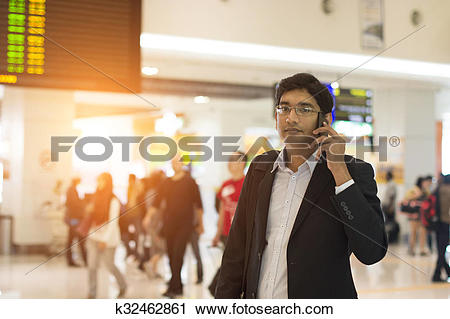 Stock Photography of indian male at the airport terminal k32462861.