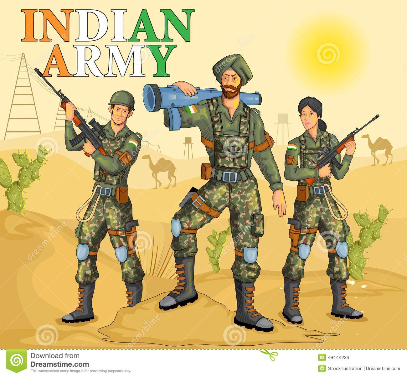 Indian Army Clipart.