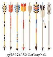 Indian Arrow Clip Art.