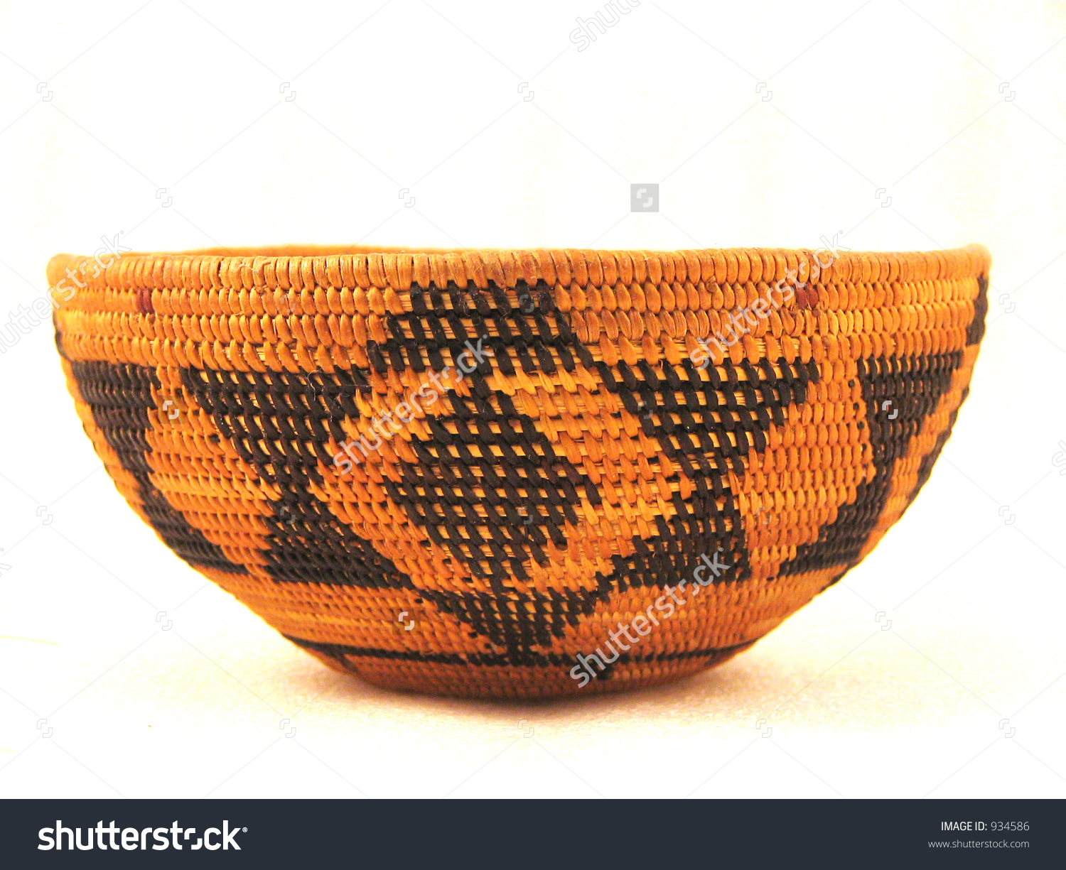 Native American Basket (Prob. Tulare Tribe Of California) With.