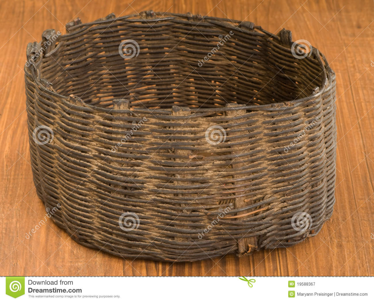 Indian Basket Artifact, Native American Guatamala Royalty Free.