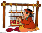 Indian basket makers clipart.
