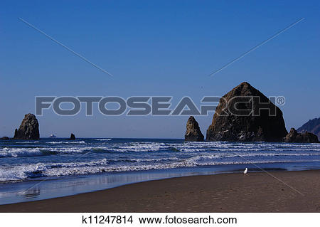 Stock Photo of Indian Beach on Oregon Coast k11247814.