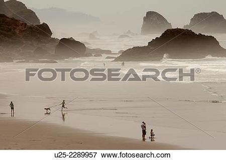 Picture of Indian Beach, Ecola State Park, Cannon Beach, Oregon.