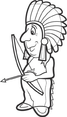 Free Native American Indian Clipart Black And White.