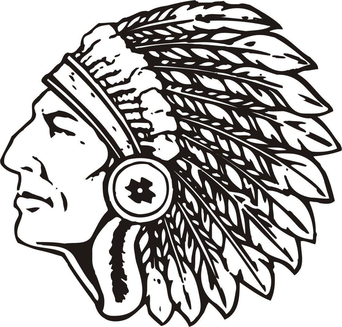 Indian Black and White Logo.