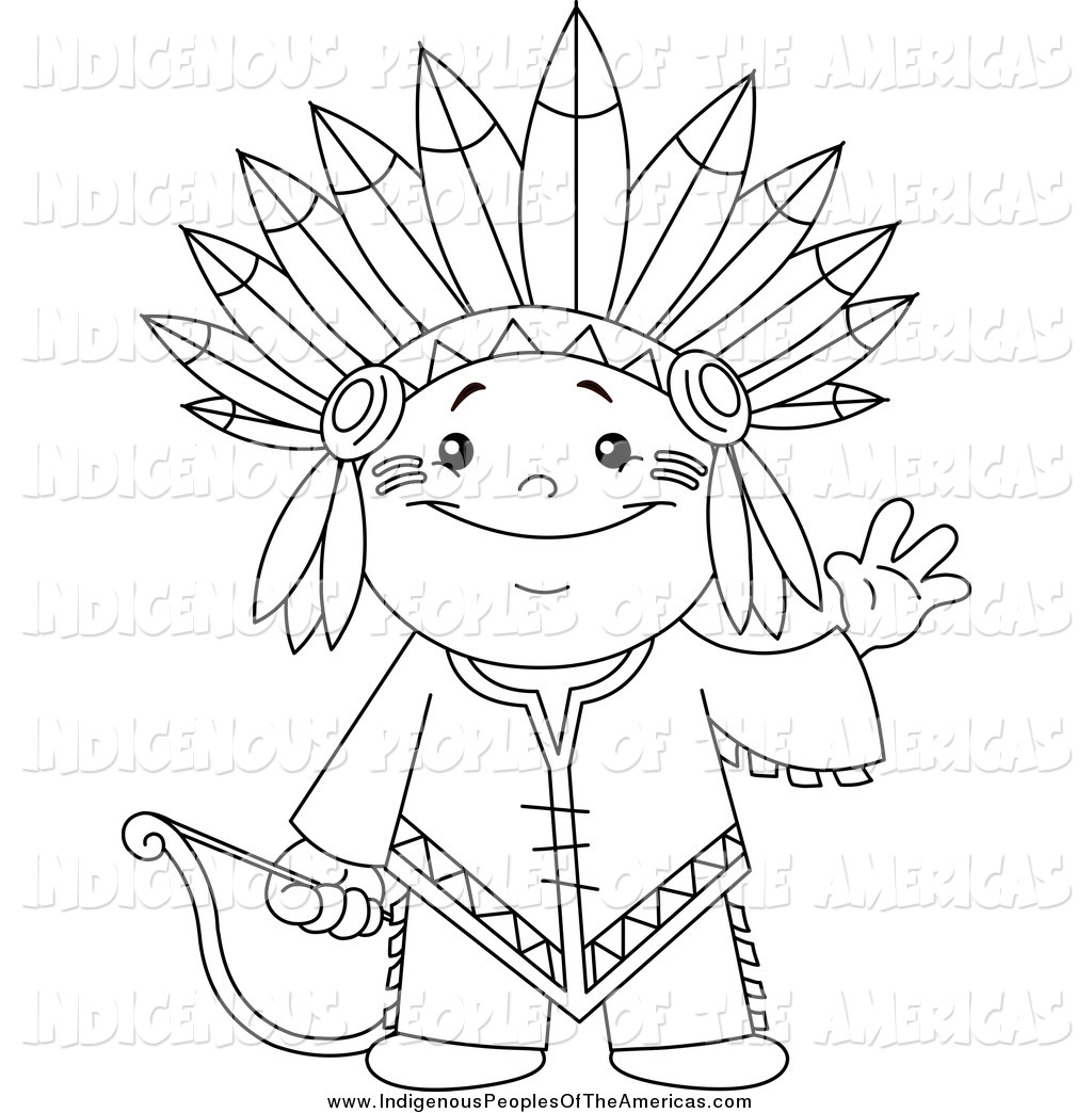 Indian Clipart Black And White.