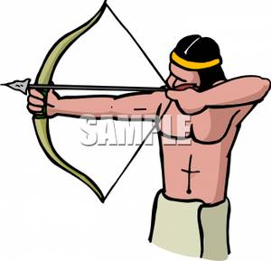 Indian Bow And Arrow Clipart.