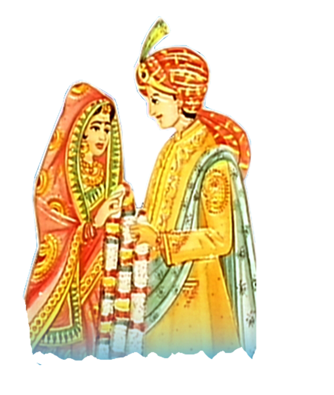 Indian Bride And Groom Clipart.