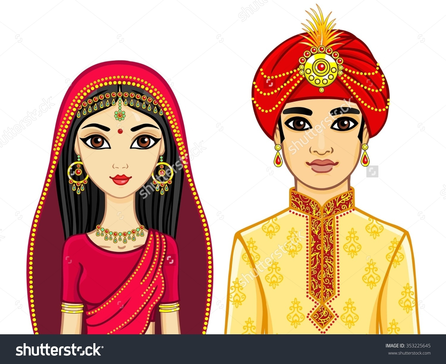 Showing post & media for Indian wedding bride and groom cartoon.