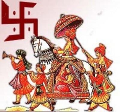 Indian Bride Groom Clipart.