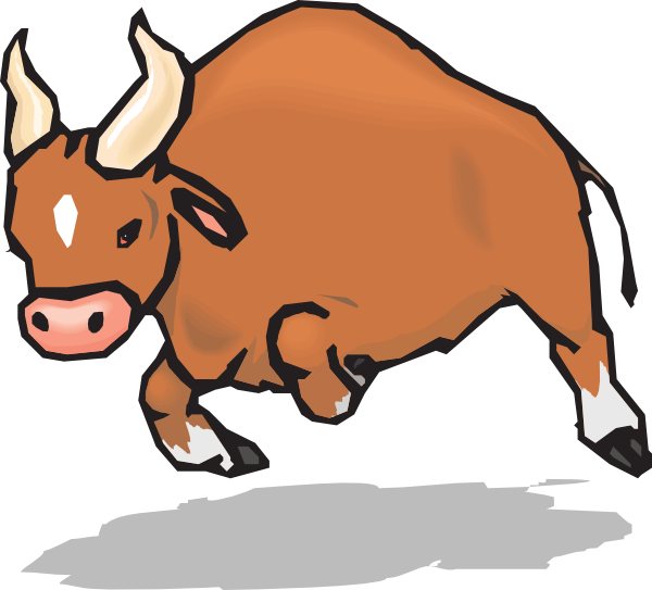 Clip Art Cartoon Black Bull Clipart.