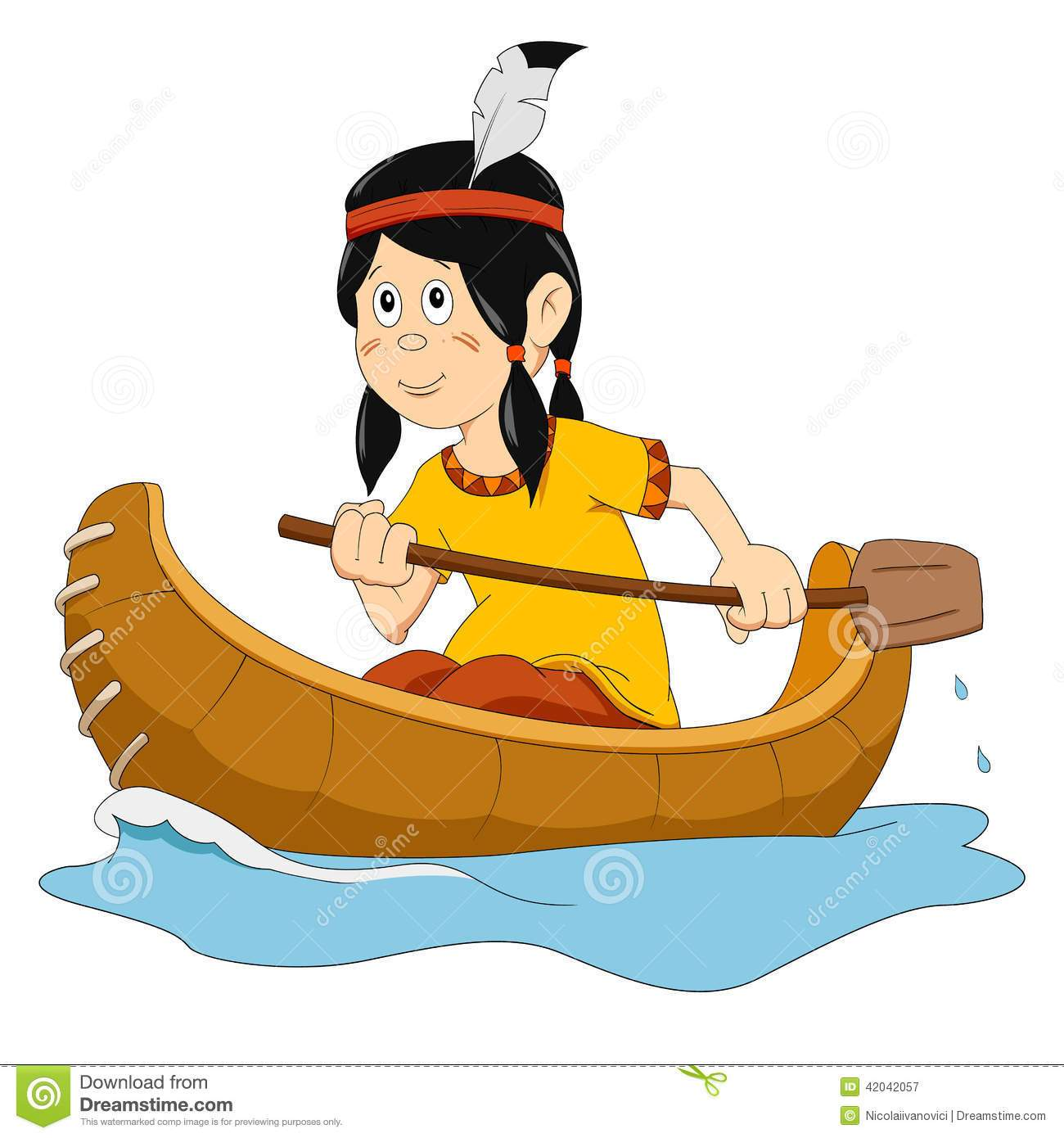Indian canoe clipart 4 » Clipart Portal.