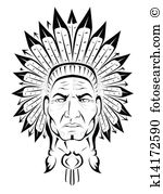 Indian chief Clipart Royalty Free. 893 indian chief clip art.